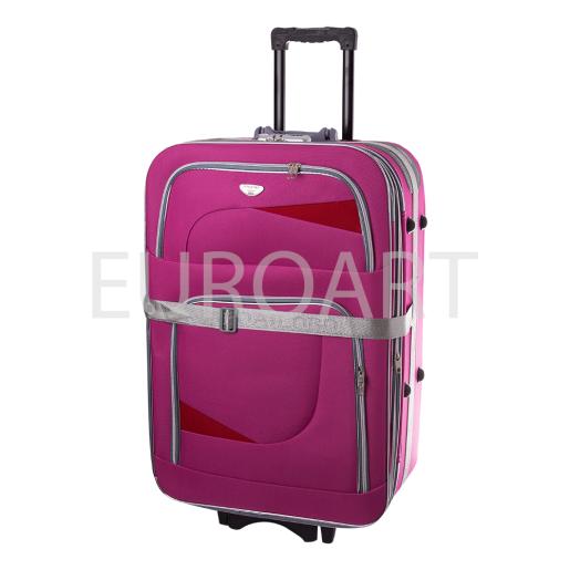 Valiza L roz textil 1PS