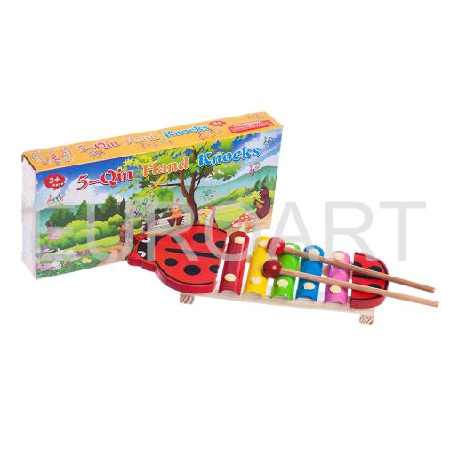 Xilofon lemn colorat