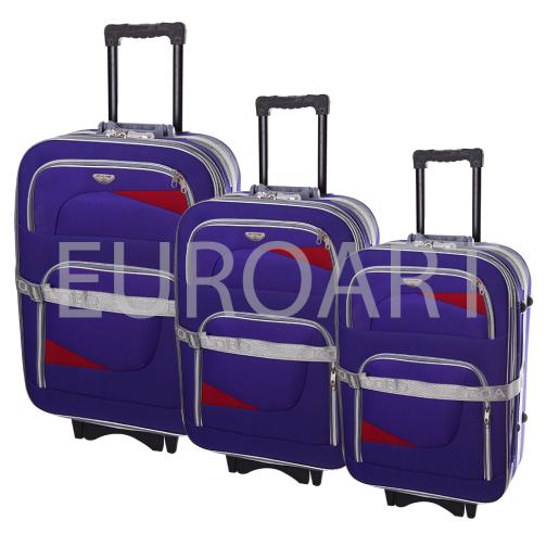 Set 3 valize textil mov