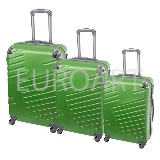 Set 3 valize textil verde