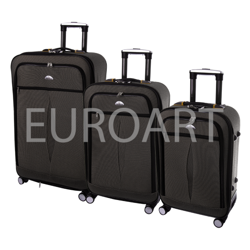 Set 3 valize textil negru