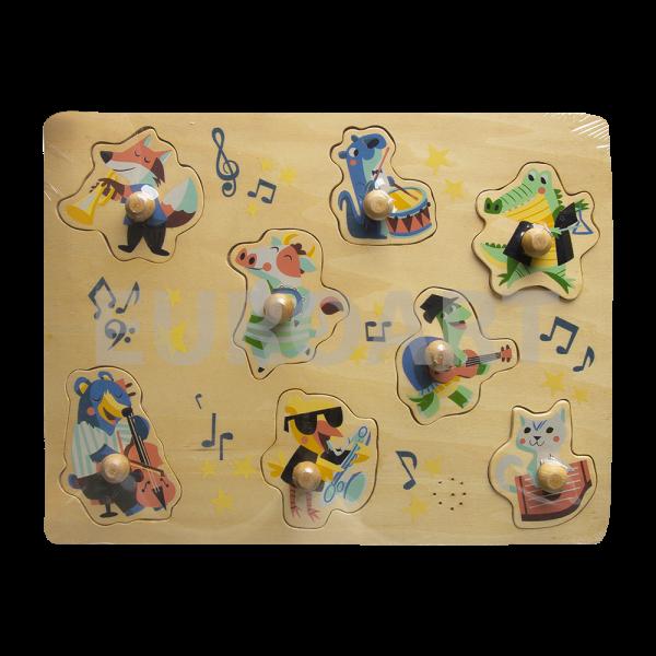 Puzzle lemn muzical