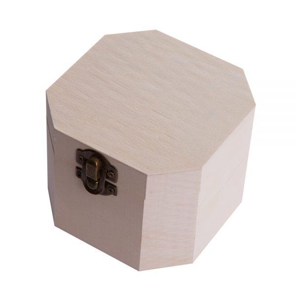 Cutie lemn natur 1ps octogonala