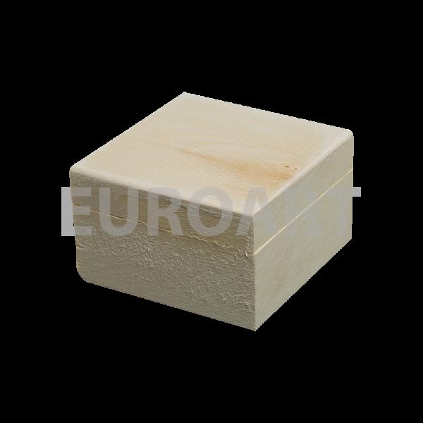 Cutie lemn cu capac 1ps patrata