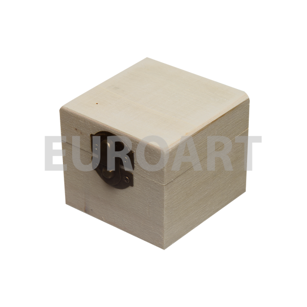 Cutie lemn inel 1ps patrata