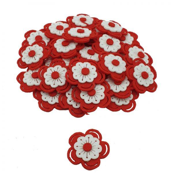 Figurina fetru floare 50/set