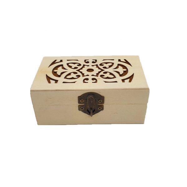 Cutie lemn natur 1ps perforata